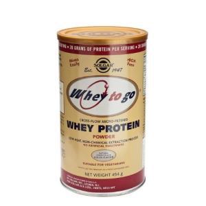 WHEY TO GO proteina en polvo sabor chocolate 454gr de Solgar