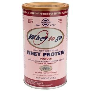 WHEY TO GO proteina en polvo FRESA 454gr de SOLGAR