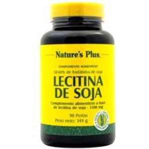 LECITINA DE SOJA 1200mg. 90 perlas de NATURES PLUS